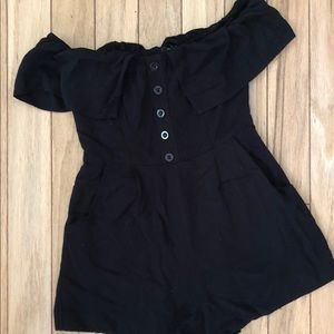 Black romper from a boutique